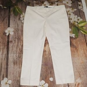 NWT Theory white new bistretch pants